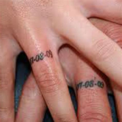wedding date tattoos wedding date tattoos