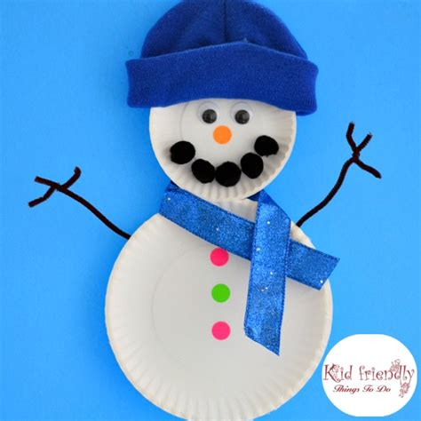 crafts snowman easy paper plate snowman craft for to make