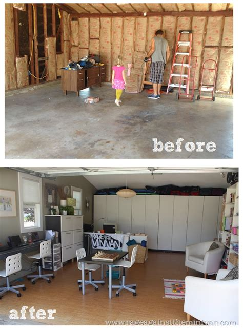 garage conversions before and after before after converting my garage into an office go