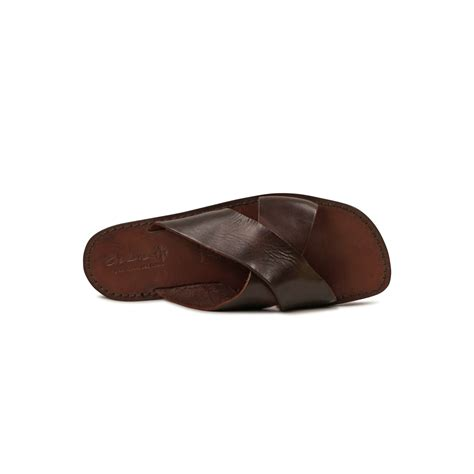 Slippers Handmade - mens leather slippers handmade in italy in brown
