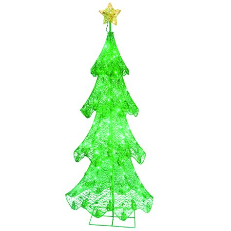 energy best green led light metal christmas tree national tree company 60in green tree with led lights