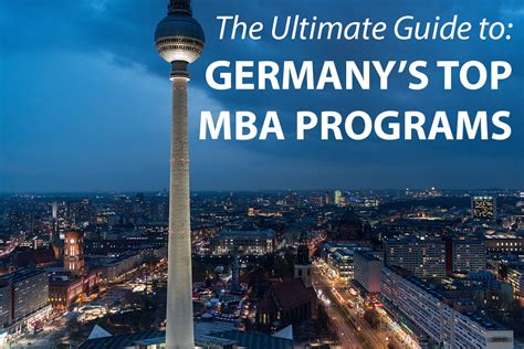 City Mba Program by The Best Mba Programs In Germany 187 Touch Mba