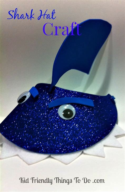 shark hat craft template shark hat craft