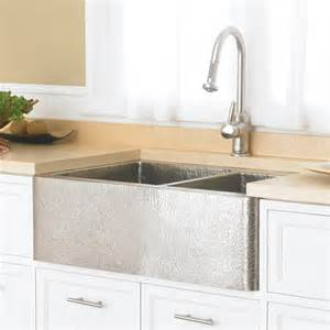 farmhouse duet copper kitchen bowled apron sink trails