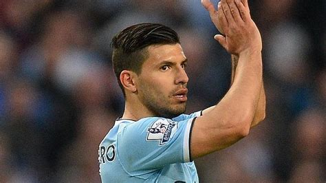 aguero best soccer player haircuts sergio aguero fit for manchester city title decider the