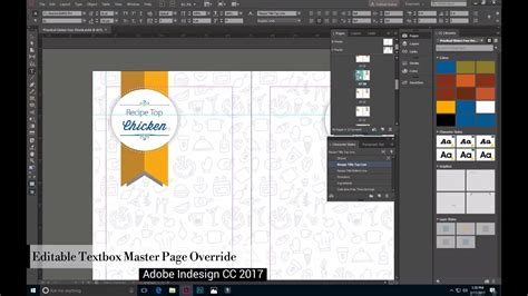 creating indesign master page how to edit master page text boxes on applied pages in