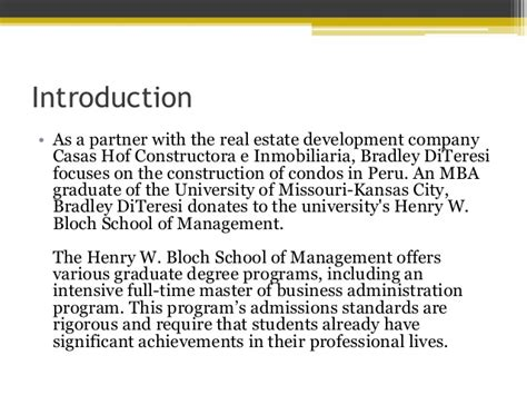 Bloch School Mba by Henry W Bloch School Of Management Intensive Mba Program