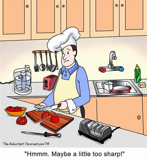 Sharpen Kitchen Knives by How Sharp Is Your Knife Cartoon With The Reluctant Gourmet