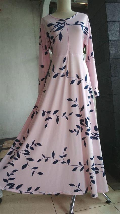 Baby Dress Gamis Busui Dress Murah Muslimah Baju Muslim baju gamis misbi motif daun busana muslim murah