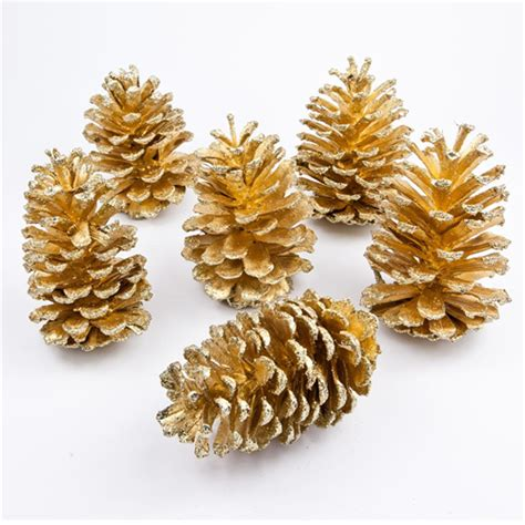 buying pine cones 2kg gold pine cones decorations for wreaths