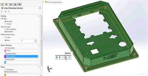 pickup pattern definition what s new in solidworks mbd 2018 define a pattern as a
