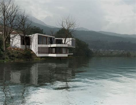 house design in china treehouse geometric guest house design in china beside lake viahouse com