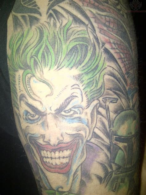 tattoo joker color joker on half sleeve