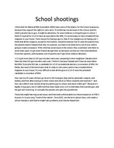 Violence Essay by Free Gun Violence Essays And Papers 123helpme
