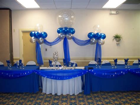 royal blue wedding decorations ideas royal and silver wedding head table jpg manualidades