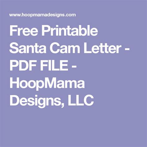 santa camera letter printable  santa cam