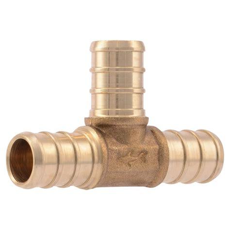 Plumbing Fittings by Sharkbite 1 2 In Brass Pex Barb 10 Pack Uc362lfa10