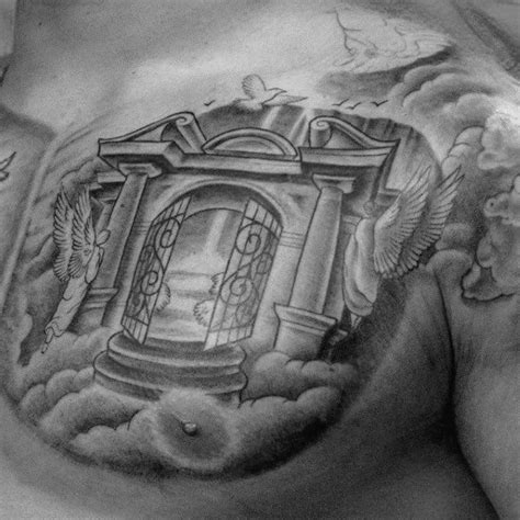 heaven gates tattoo designs with chest heaven gate tattoos tattos for me