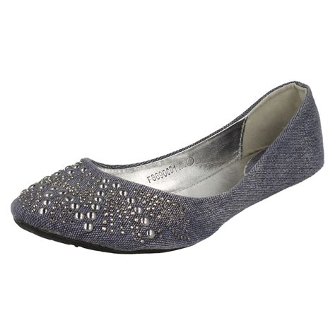 flat shoes style spot on ballerina style flat shoes ebay