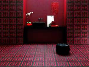 bathroom black red white: red and black mosaic bathroom floor the exotic feel of thi