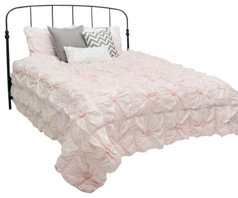 rizzy home 3 piece full queen comforter bed set light