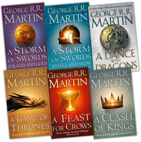 a of thrones 6 book set george r r martin pack new ebay
