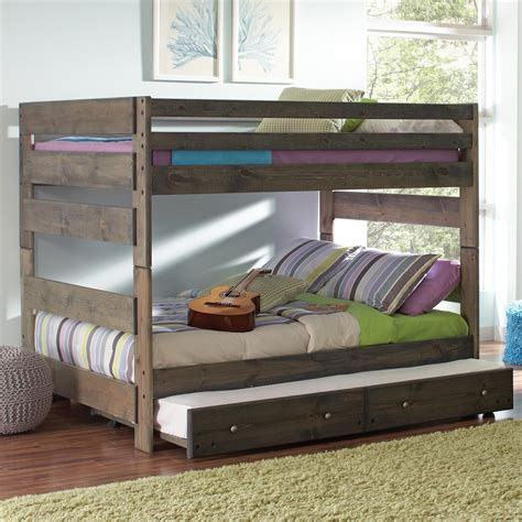 pull out bunk bed coaster wrangle hill full over full bunk bed with pull out