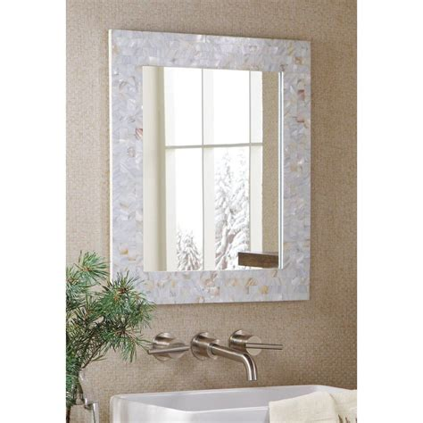 Amazon.com: Mother Of Pearl Mosaic Tiles White Wall Mirror