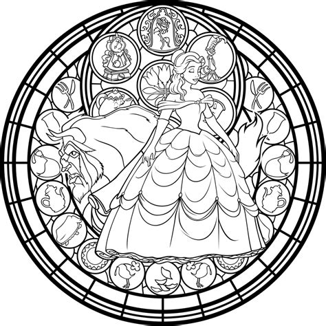 mandalas stained glass coloring book pdf and the beast coloring pages this