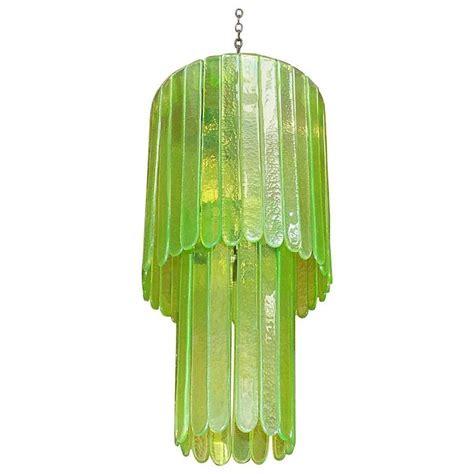 Italian Green Murano Glass Chandelier By Leucos For Sale Green Chandeliers