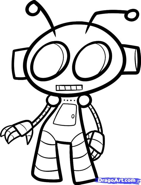Drawing Robot by How To Draw A Robot For Step By Step For