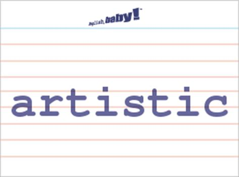 "what does ""artistic"" mean? 