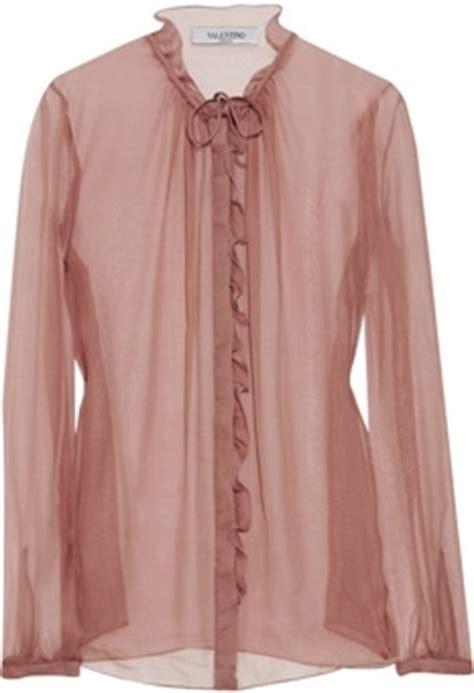 Found Kate Olsens Steven Alan Flannel Ruffle Shirt by Valentino Ruffled Silk Chiffon Blouse 7 Stunning