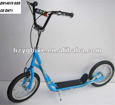 kids scooter with big wheels 16 inch large wheel push kick scooters with ce buy large