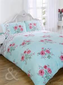 floral chic vintage blue luxury duvet cover bedding uk