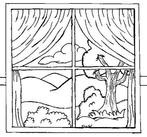 imagenes para colorear ventana dibujo de ventana para colorear dibujos net