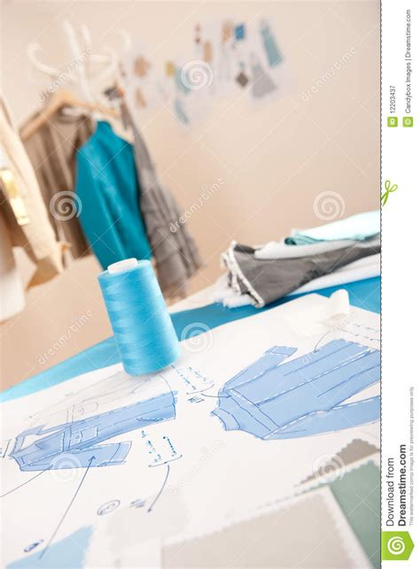 fashion design equipment list fashion designer studio with equipment royalty free stock
