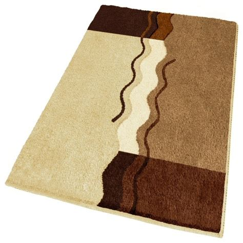 large bathroom rugs and mats large modern brown bathroom rug 27 6 quot x 47 2 quot modern bath mats by vita futura