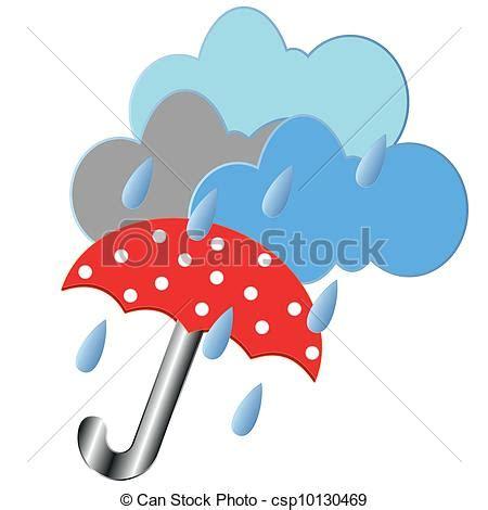 clipart pioggia clipart vettoriali di ombrello rosso pioggia rosso