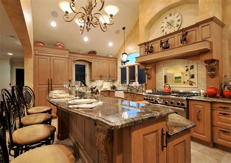 Old World Mediterranean Kitchen Design Classic European Kitchen Island Ideas