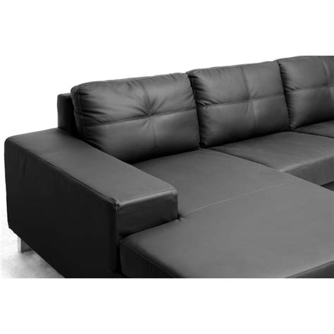 corbin sofa corbin black modern sectional sofa see white