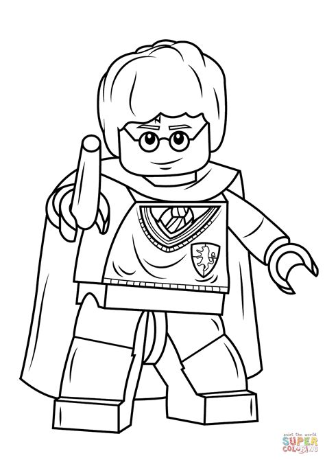 harry potter coloring book tutorial disegno di harry potter lego con scettro da colorare