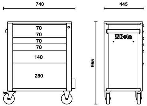 cassettiere beta cassettiera mobile arancio c24s 6 con 6 cassetti beta