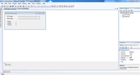 membuat gambar bergerak di visual basic membuat cpu performance menggunakan visual basic 2008 vb