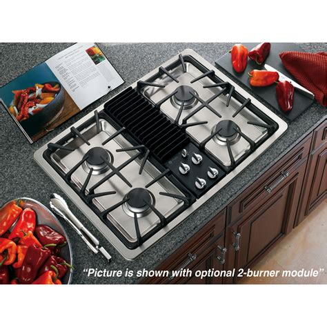 modular gas cooktop ge profile series pgp990senss 30 quot built in modular gas
