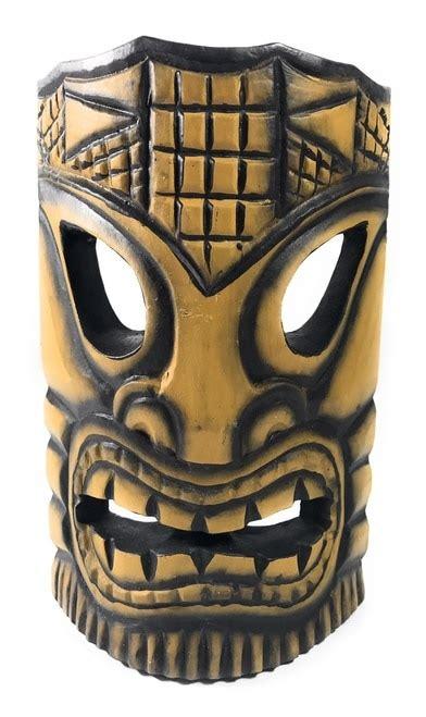 Kahuna White Tribal health tiki mask 8 quot wall decor bds1202420 tikimaster