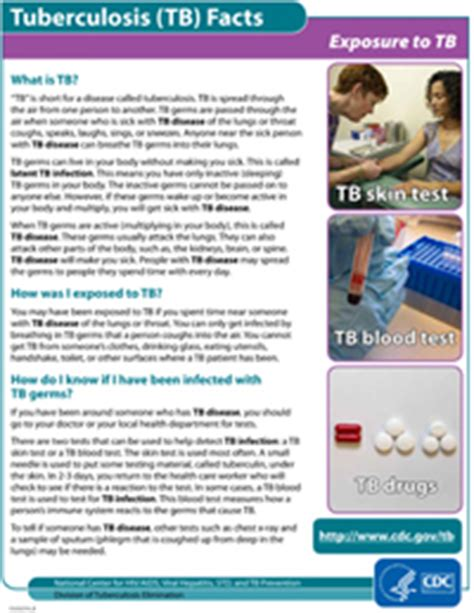 general | fact sheets | publications & products | tb | cdc