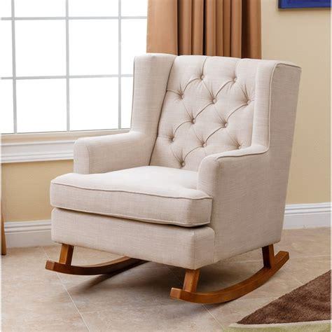 Fabric Rocking Chair For Nursery Rocking Chair Design Abbyson Living Thatcher Beige Fabric Rocker Chair Fabric Rocking Chair