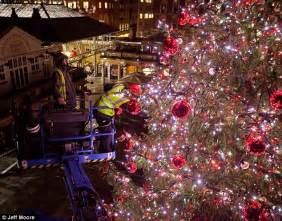 Christmas Decorations Presents That Light Up by Behind The Scenes As Covent Garden Is Decked Out In Giant