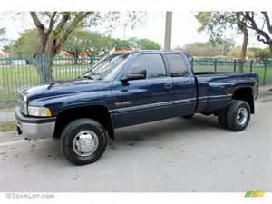 2001 Dodge Ram 3500 Parriot Blue Pearl 2001 Dodge Ram 3500 Slt Cab 4x4